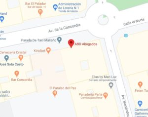 Imagen del mapa con la dirección exacta de la Oficina de Alberto Bolado Abogados